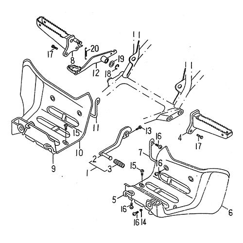 Stand Footrest (LRX/SMC Blast ATV 170)