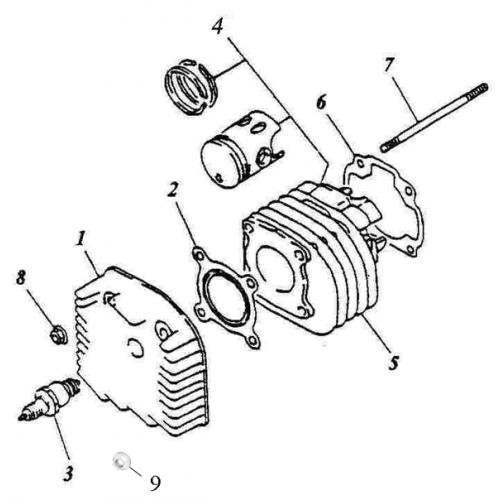 Cylinder, Cylinder Head (ADLY RT-50 Road Tracer)