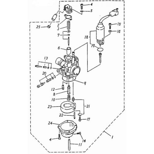Carburetor (ADLY RT-50 Road Tracer)