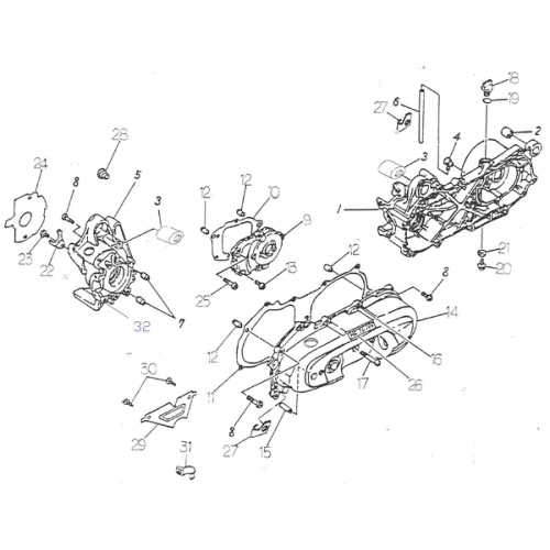 Crankcase (ADLY RT-50 Road Tracer)