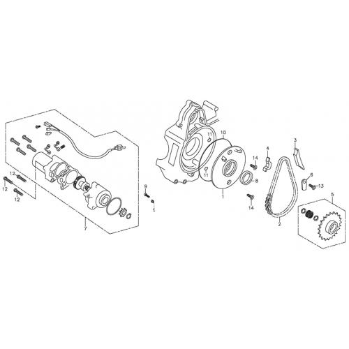 Starting Motor (Adly ATV 90Z2 4T (Gear Drive))