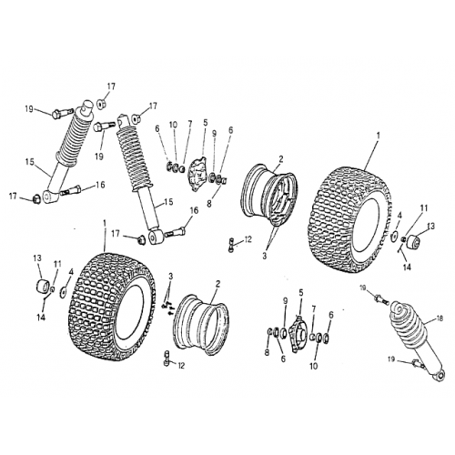 Blazer 90cc Atv Front Wheel Suspension on 5 Go Kart Brake Drum