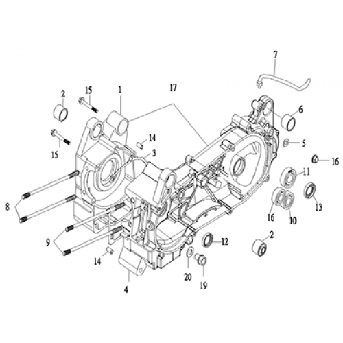Crankcase (Thunder Bike 150)