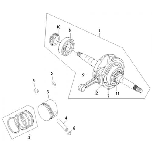 Crankshaft, Piston (Thunder Bike 150)