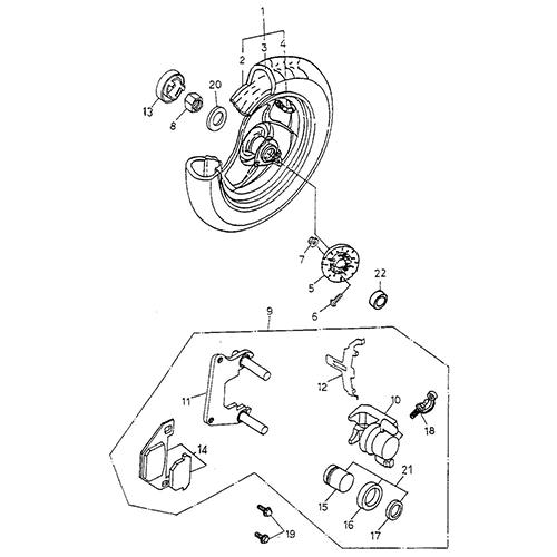 Rear Wheel (AL) (Thunder Bike 150)