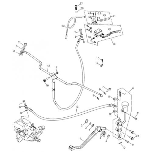 Brake System Adly Atv 200s