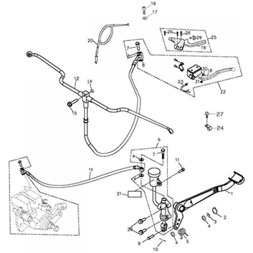 Brake System Adly Atv Q300