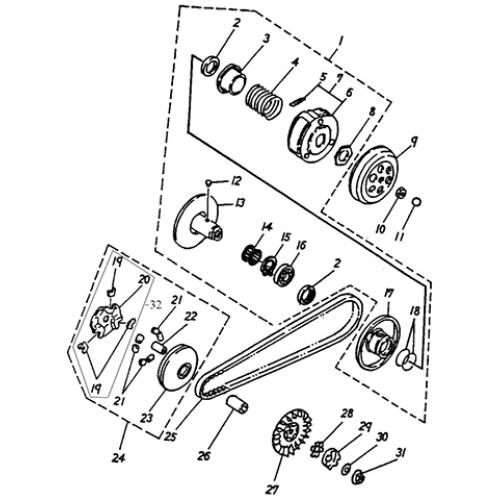 Clutch (Adly Jet 50)