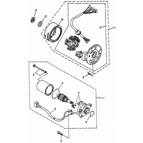 Generator | Starting Motor (Adly PANTHER-50 '06)