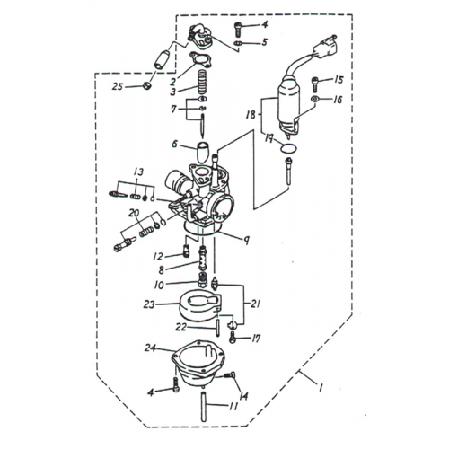 Carburetor (ADLY GTC-50)