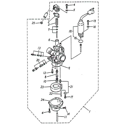 Carburetor (Adly Noble ST-50)