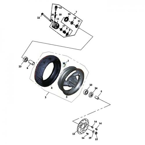 Front Wheel Aluminum Rim