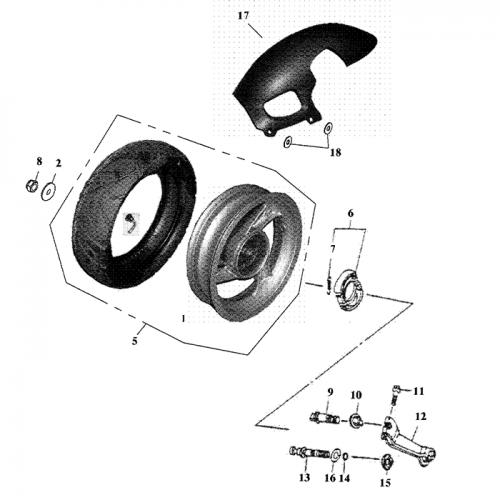 Rear Wheel Aluminum Rim