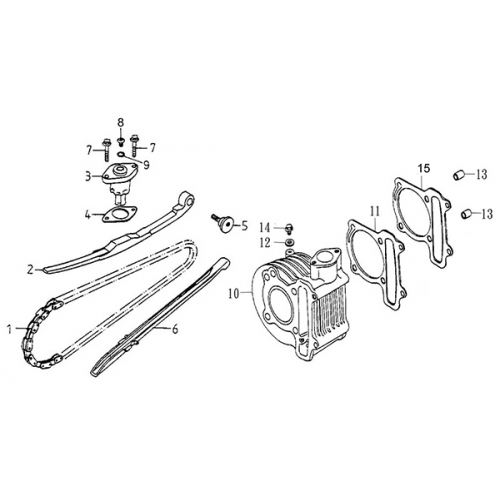 Cam chain | Cylinder (Adly Super Sonic SS-125D)
