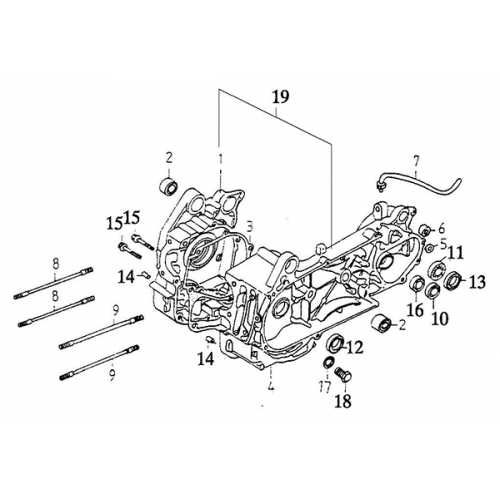 Crankcase (Adly Super Sonic SS-125D)