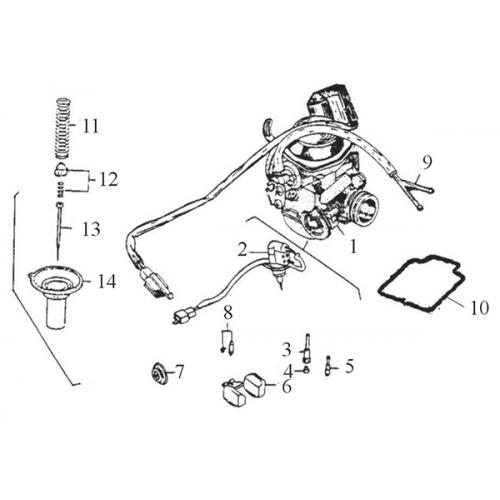 Carburetor (Adly Super Sonic SS-125D)