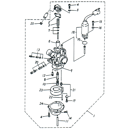 Carburetor (Adly SuperSonic 50cc II)
