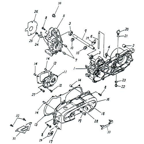 Crankcase (Adly SuperSonic 50cc II)
