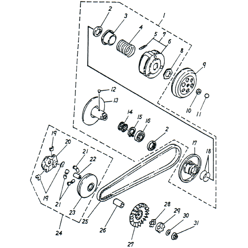 Clutch (Adly SuperSonic 50cc II)