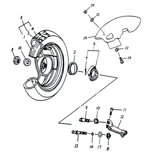 Rear Wheel (13IN SPCC Rim) (Adly SuperSonic 50cc II)