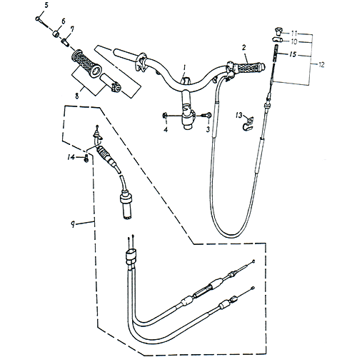 Handlebar, Cable (Adly SuperSonic 50cc II)