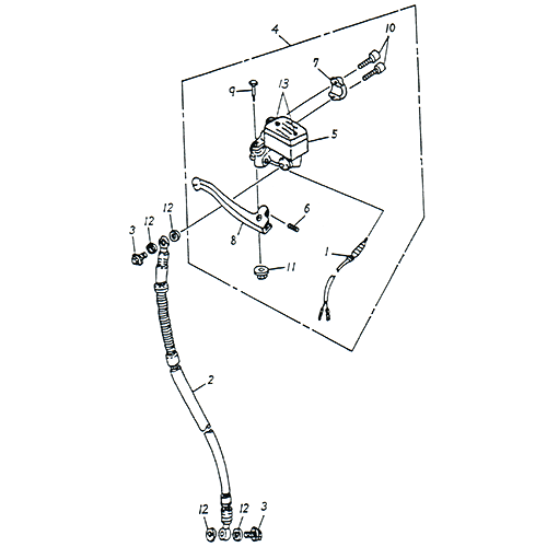 Front Master Cylinder (SPCC Rim) (Adly SuperSonic 50cc II)