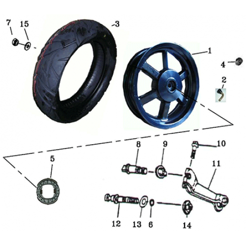 Rear Wheel (Adly BullsEye 50)