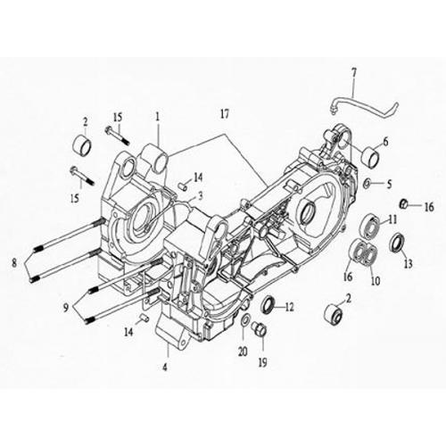 Crankcase (Lambretta UNO150)