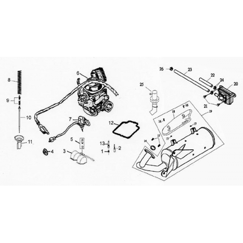 Exhaust Muffler | Carburetor (Lambretta UNO150)
