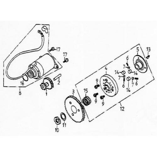 Starting Motor (Lambretta UNO150)