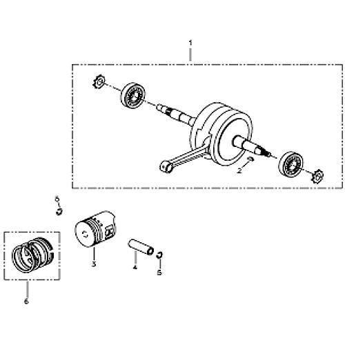 Cramshaft and Piston (Silver Fox (4 Stroke))