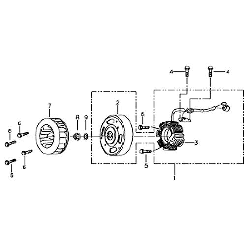 Stator and Flywheel (Silver Fox (4 Stroke))