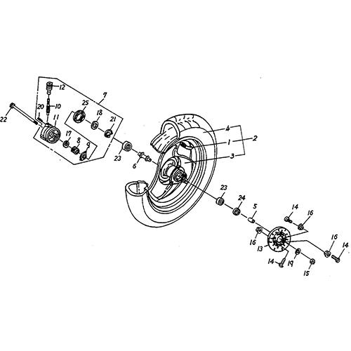 Front Wheel (DOT) (Silver Fox (4 Stroke))