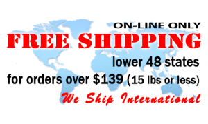 Free shipping for orders over $139. lower 48 states only