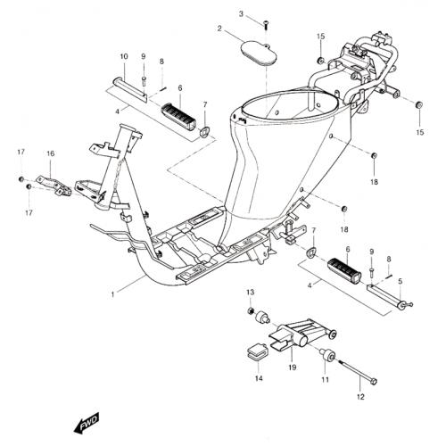 Frame (Hyosung Sense SD-50 Scooter)