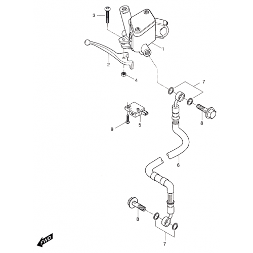 Front Master Cylinder (Hyosung Sense SD-50 Scooter)