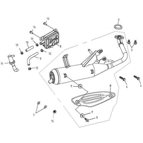 Exhaust (EPA) (Lambretta UNO50)