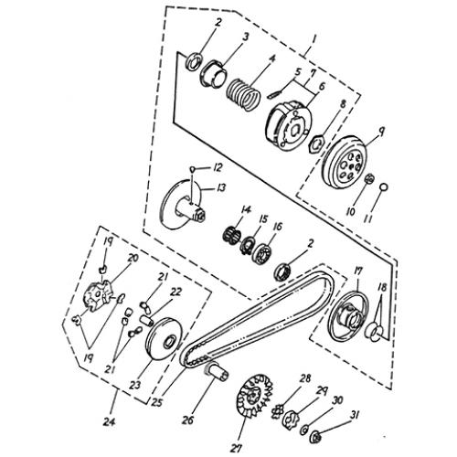 Clutch (Lambretta UNO50)