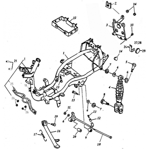 Frame Body (Lambretta UNO50)