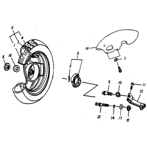 """Rear Wheel (12"""") (Lambretta UNO50)"""