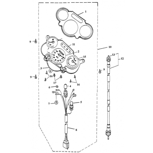 Speedometer (Lambretta UNO50)