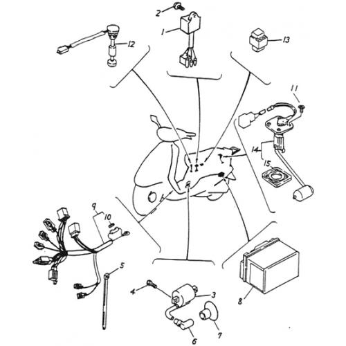 Electrical Equipment (CDI) (Lambretta UNO50)