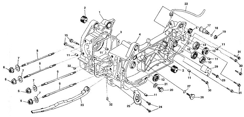 Crankcase embly (2) (Kasea LM150IIR 2000) on kawasaki wiring diagram, husaberg wiring diagram, yamaha wiring diagram, norton wiring diagram, garelli wiring diagram, kymco wiring diagram, vespa wiring diagram, dinli wiring diagram, kazuma wiring diagram, phantom wiring diagram, tomos wiring diagram, royal ryder wiring diagram, motor trike wiring diagram, smc wiring diagram, motofino wiring diagram, lifan wiring diagram, alpha sports wiring diagram, ural wiring diagram, suzuki wiring diagram, ossa wiring diagram,
