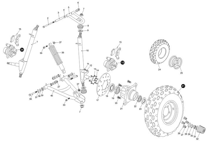 suspension arm  kasea lm150iir 2000
