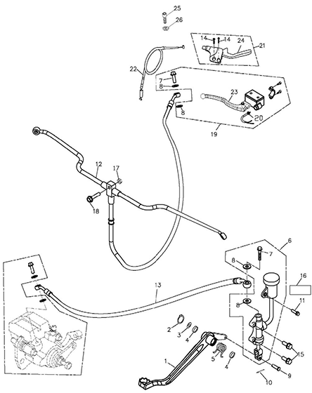 Brake System Adly Atv 300xs Assault