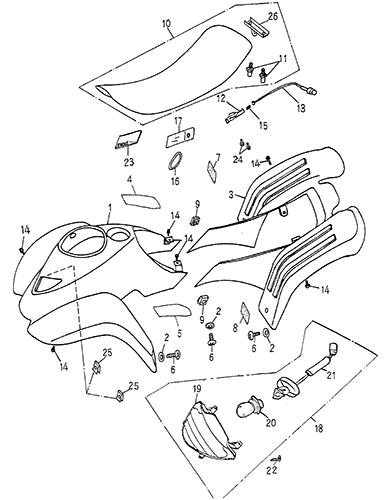 Body Cover Seat Blazer 50cc Atv