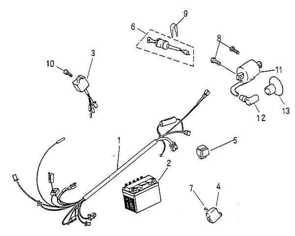 electrical parts  blazer 90cc atv